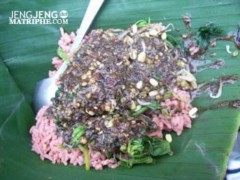 Pecel Nasi Merah Bumbu Wijen
