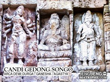 Arca Dewi Durga - Ganesha - Agastya