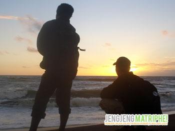 Suasana sunset di Pantai Pandansari