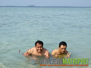 nyemplung di Pulau Tidung Kecil