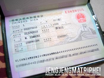 Visa L China