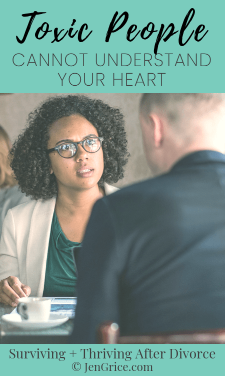 You think you explain yourself well. You try to get out how you\'re feeling but only get back blame in return. You could be dealing with a toxic person.