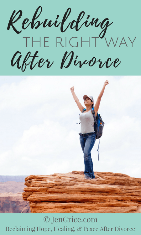 Rebuilding after divorce can be done the right way or the world's way. As a divorced Christian woman I chose the right way... on a solid foundation.