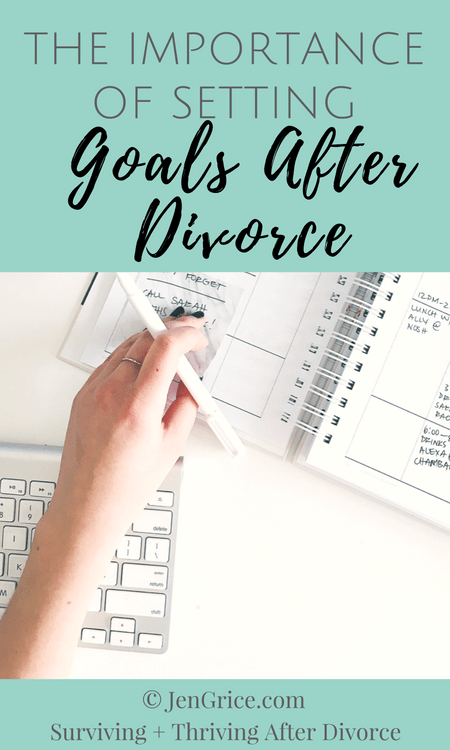 It's important to set goals after divorce. Standing still is not an option. We must remain focused on hope, set small attainable goals, and keep moving towards personal growth in order to heal and have a better life.