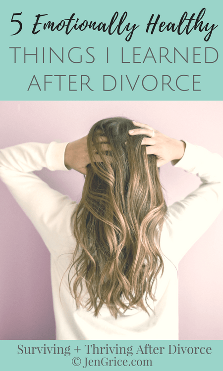 A huge part of divorce is personal growth. Growing and learning about how to be emotionally healthy. These are the 5 things I learned after my divorce. Feel free to take note and post them up where you can see. via @msjengrice