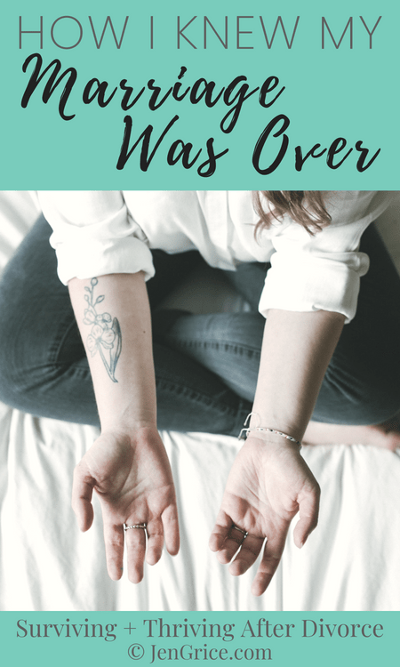 I wasn't able to heal from the past adulteries, he didn't respect boundaries, and he was unrepentant. This is how I knew my marriage was over and couldn't be saved.
