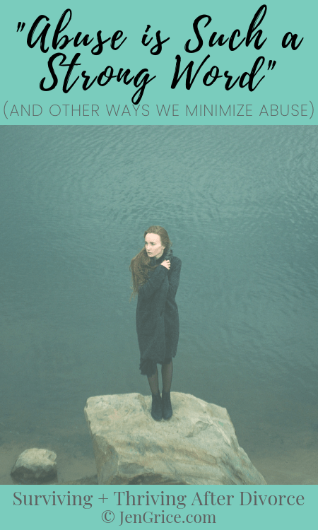 Abuse is not something to be taken lightly, but we also need to stop minimizing, blame-shifting, and justifying abuse for the abuser. Victims need us to help stop the cycle! They need to know they\'re not alone.