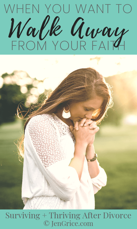 Divorce is a life-altering trial that can and will test anyone's belief in a loving father. Do you feel like you want to walk away from your faith? There is hope! via @msjengrice