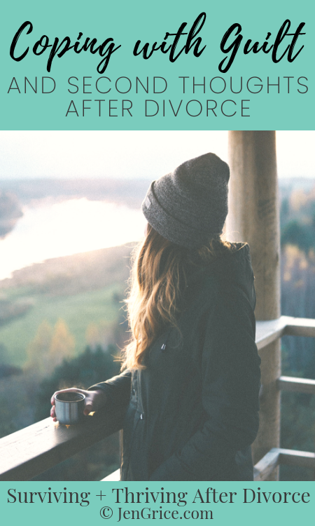 Most divorced Christian women have had a time where they felt guilt or second thoughts during the divorce process. But we just have to learn how to get through these normal feelings.
