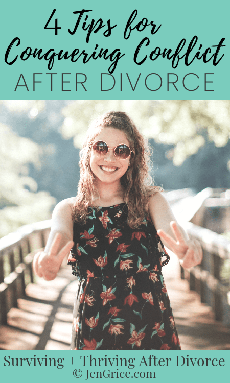 When dealing with a high conflict divorce, or being blamed for being part of one, we need to learn how to conquer conflict in a healthy way. Here are 4 tips to help you become assertive with boundaries after divorce. via @msjengrice