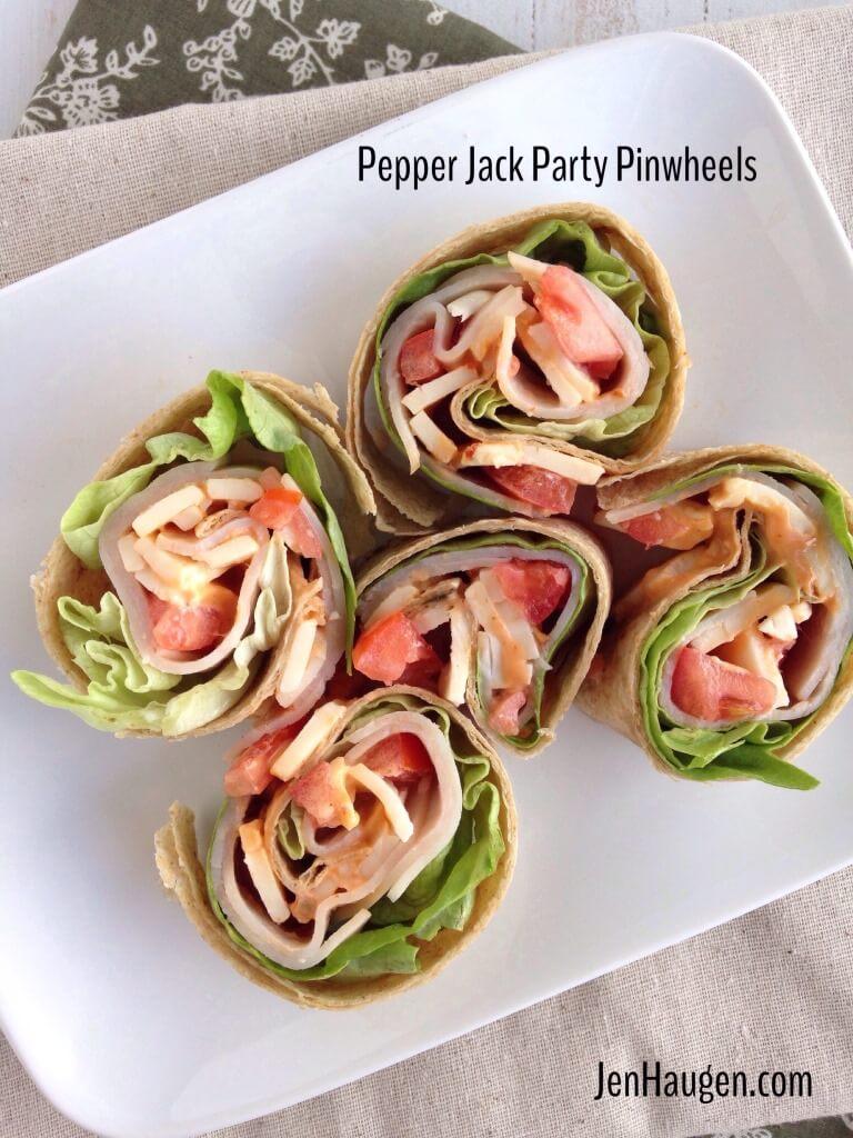 Pepper Jack Party Pinwheels