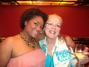 Jenice Armstead with Vicki Shaw, Comic