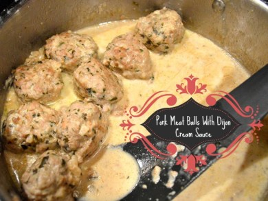 Wini's Pork Meatballs text