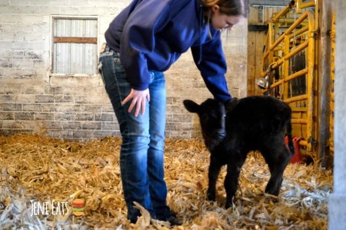 Laura petting lena