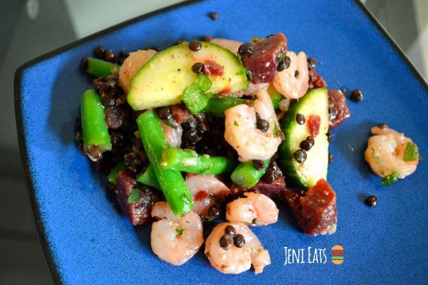 lentil shrimp lemon vinaigrette salad