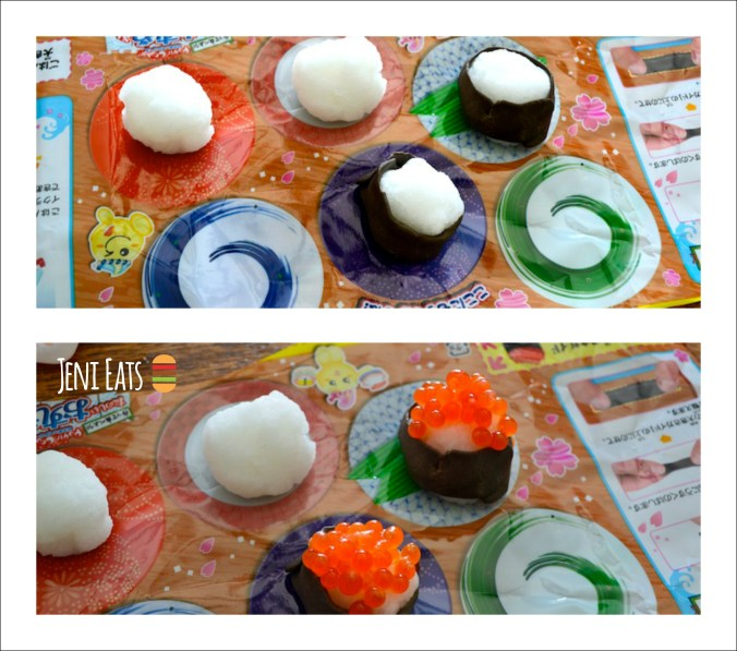 sushi eggs Collage