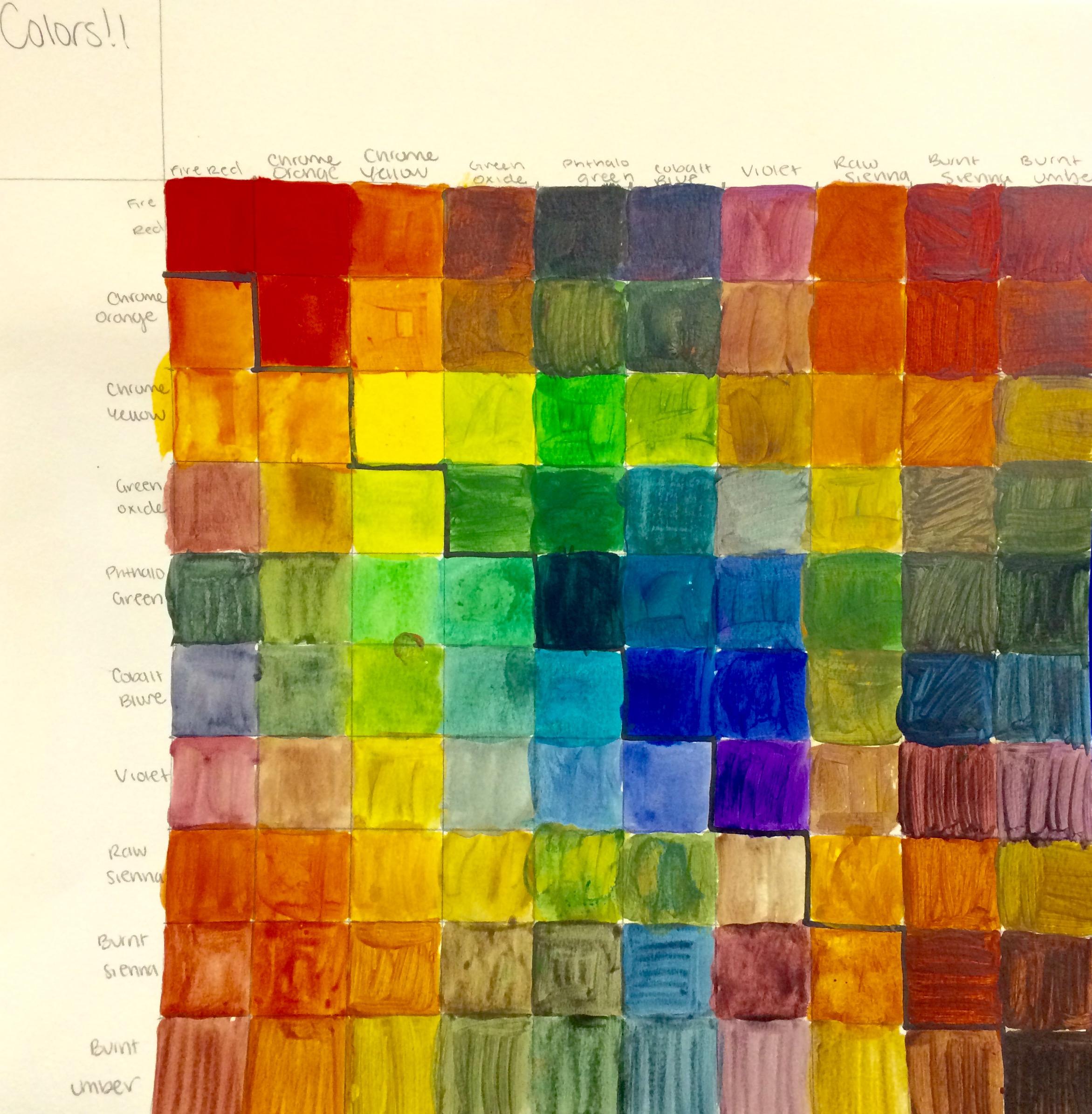 Color Mixing Grid Jenikasartblog