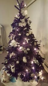 Purple flocked tree