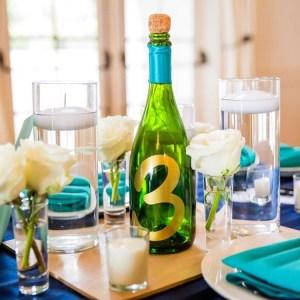 Champagne Bottle Centerpieces
