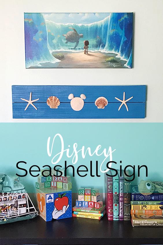 Disney Seashell Sign