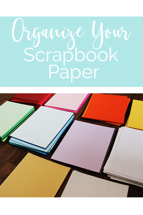 Lawrence Made Organize Scrapbook Paper