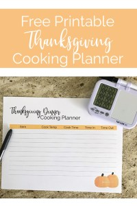 Lawrence Made Thanksgiving Cooking Planner