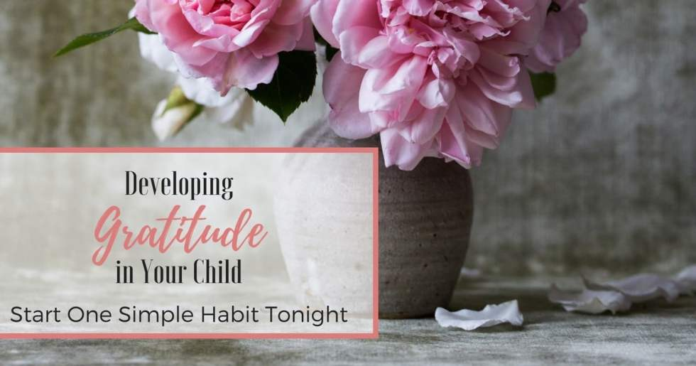 Start one simple habit to develop gratitude and thankfulness in your child! Help them focus on the positive and eliminate complaining!