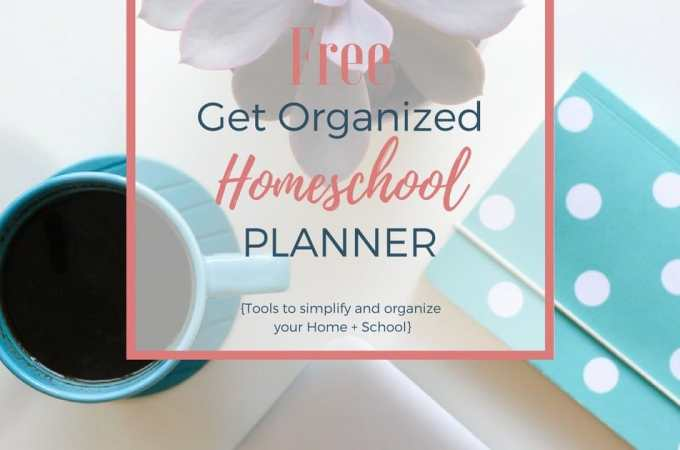 After 14 years, I've learned some simple tips for getting my home and homeschool organized, and I've created a planner to help you get organized too!