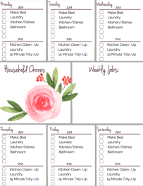 After 14 years, I've learned some simple tips for getting my home and homeschool organized, and I've created a planner to help you get organized too! This my Chore Chart!