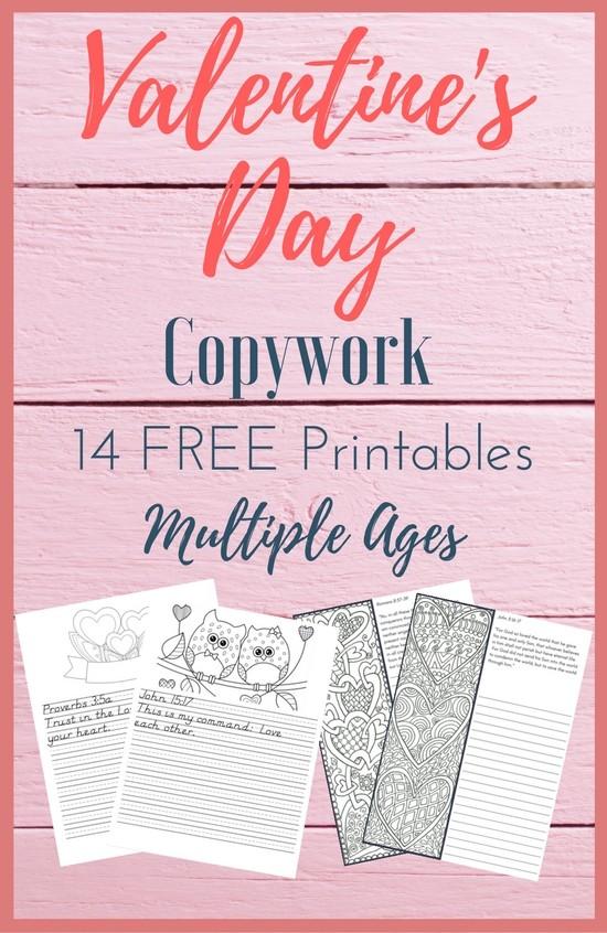 graphic regarding Free Printable Bible Verses Handwriting titled Free of charge Valentines Working day Copywork Jen Merckling