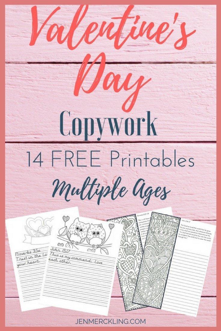 FREE Valentine\'s Day Copywork | Jen Merckling