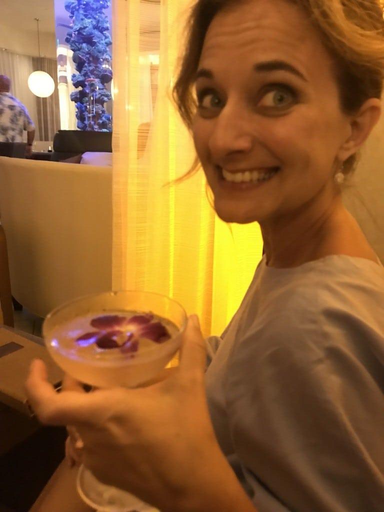 Enjoying drinks at Koral's in JW Marriott Marco Island Beach Resort
