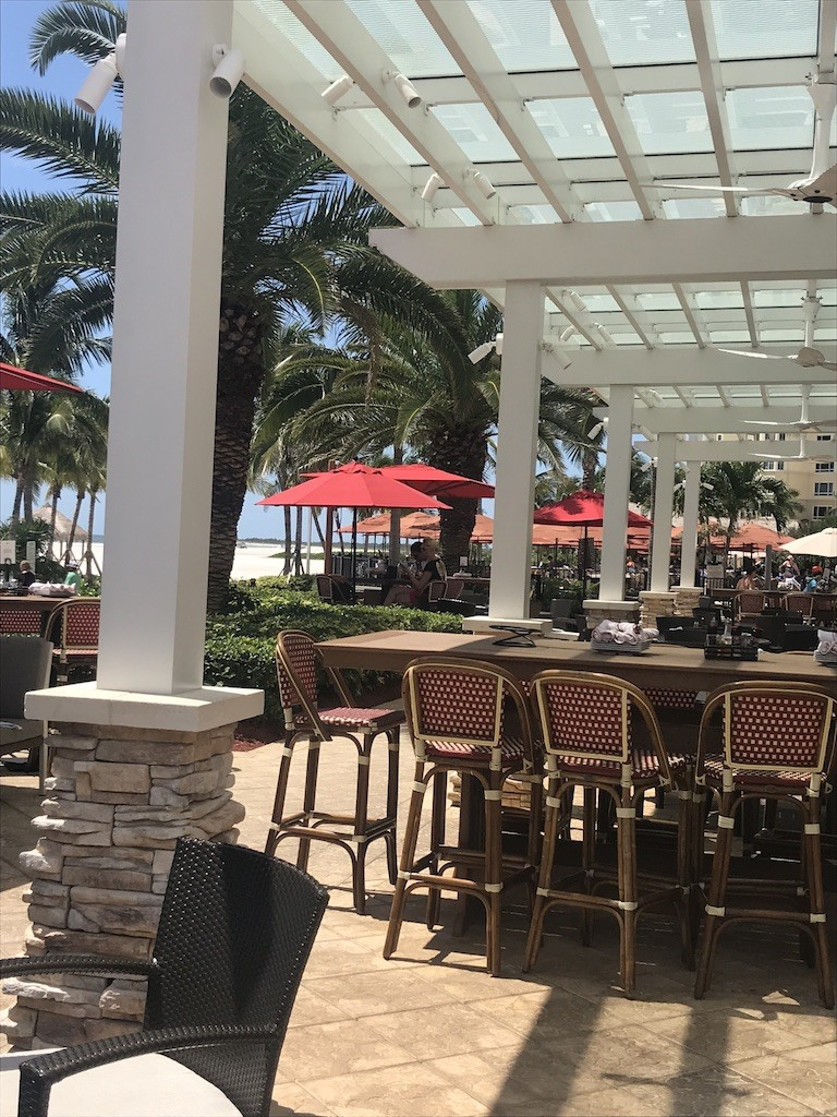 Pazzi's Outdoor Patio Seating at the JW Marriott Marco Island