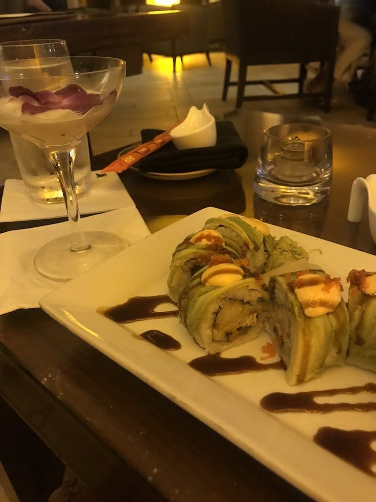 Sushi at Korals in the JW Marriott Marco Island Beach Resort
