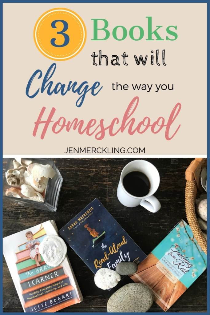 Sharing 3 Amazing Books that will change the way you homeschool! I read them this year and was so encouraged and inspired! If you're new to homeschooling or a veteran homeschool mom--these should be on your must read list!
