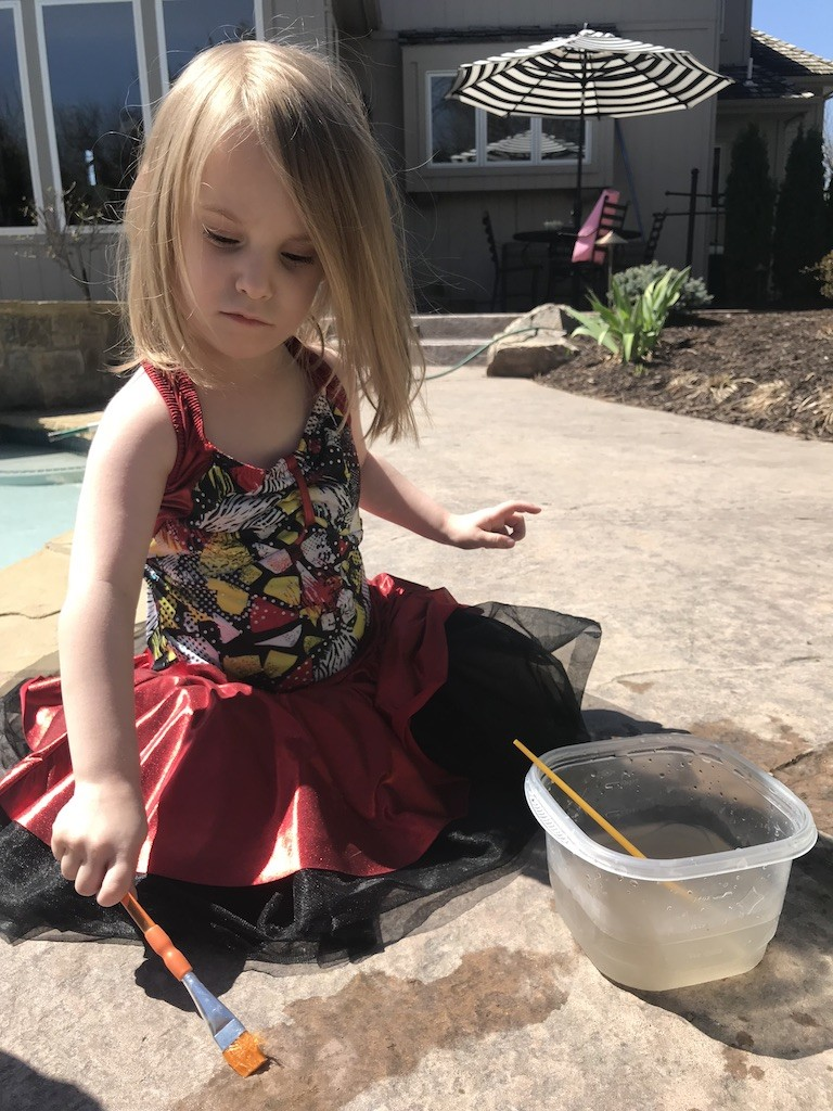 Toddler Sensory Activity: Painting with water