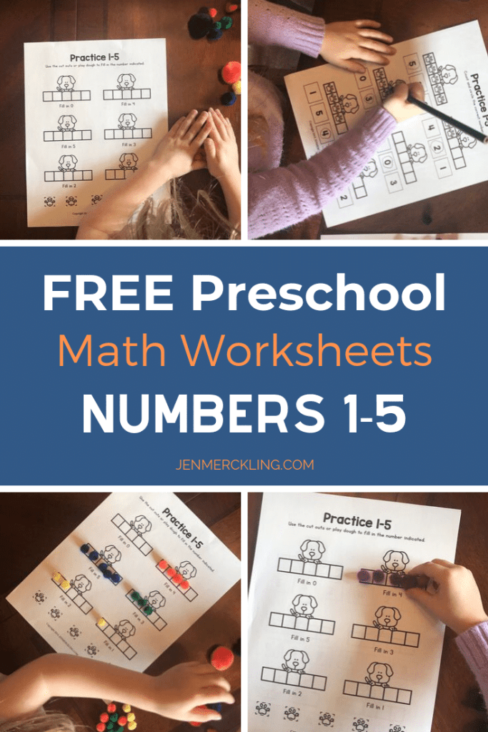 Preschool Math Worksheets Numbers 1-5
