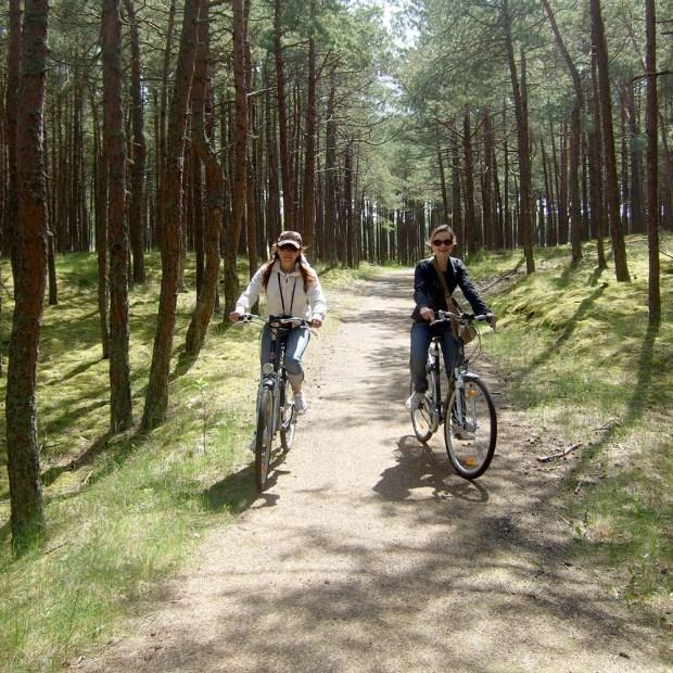 Riding bikes on Neringa.