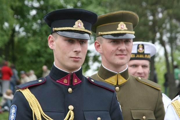 Lithuanian military members at Karo Dienos in Kaunas.