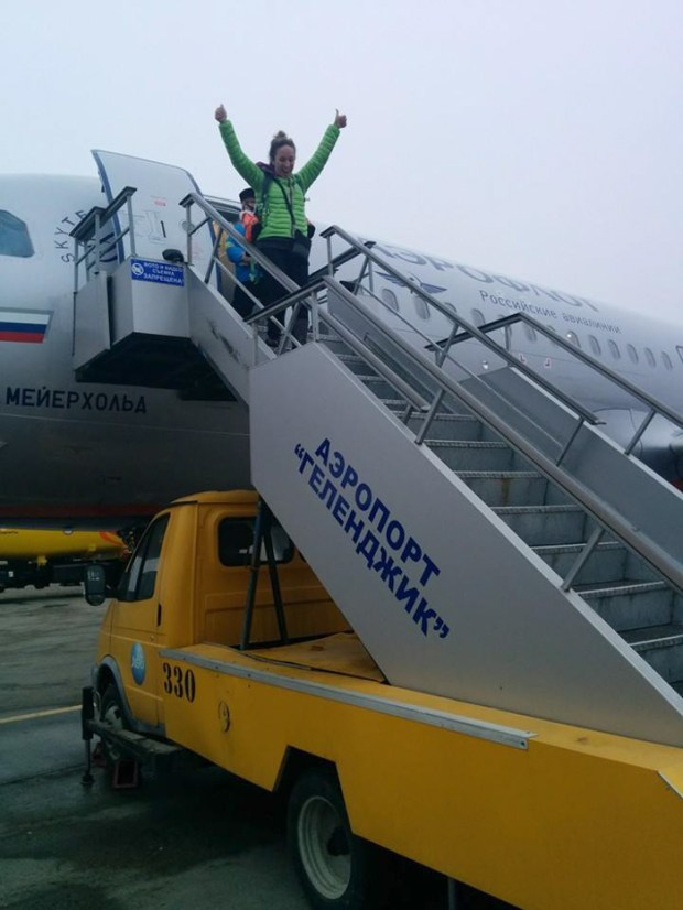 Finally stepping off the plane in Krasnodar!