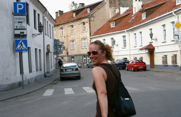 Out and about in Vilnius.