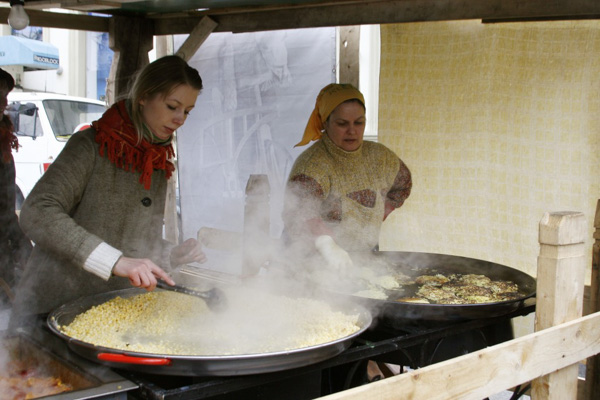 Bulvinai blynai will warm you up on a cold, damp Lithuanian day.