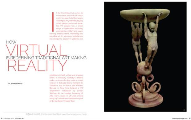 virtual reality redefining fine art making