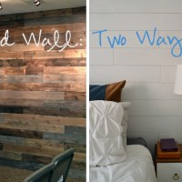 Wood Wall: Two Ways