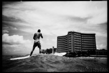 Waikiki Surfing Beach Photography