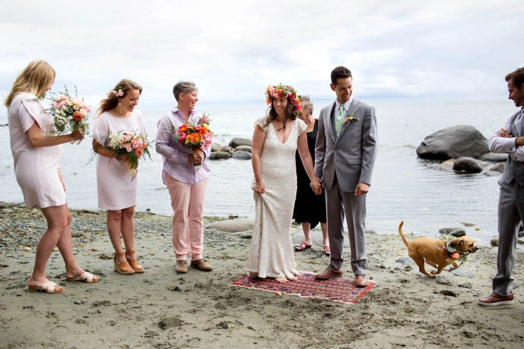 An Intimate Beach Wedding At Craidelonna Oceanedge Lodge In Sooke Bc