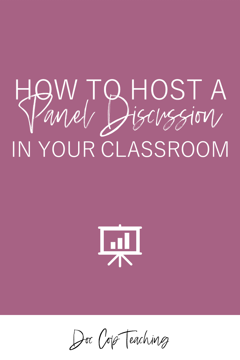 Facilitating discussion activities in a high school or middle classroom is a great strategy to get students engaged and excited about what they're reading and learning. If you love Socractic Seminar, fishbowl discussions, or hot seat discussions, you'll love panel discussions! This post has everything you need to host a panel discussion with your students, and it includes a free download with discussion questions, topics, and ideas; a participation rubric and tracker; and directions and rules.