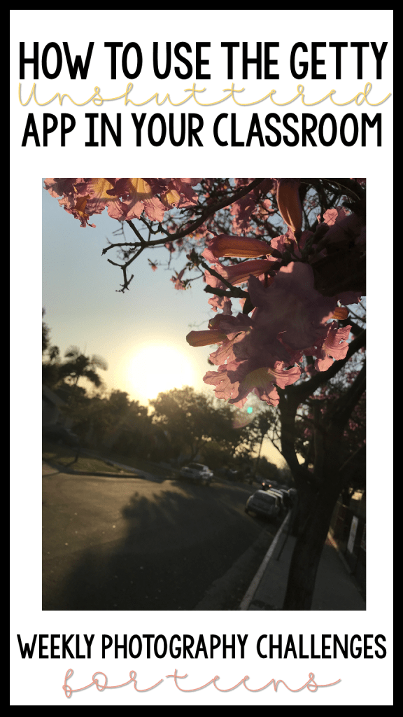 The Getty Unshuttered App's photography challenges and tips are a great addition to any creative thinking classroom! #ad #unshuttered @weareteachers @gettymuseum
