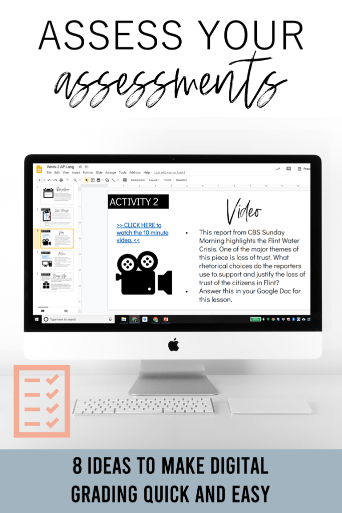 Does grading get you down? It doesn't have to! In this post, you'll learn 8 ideas to make digital grading online faster and more efficient. It includes digital stickers, essay comments, Google Classroom hacks to help you give virtual feedback quickly (even for essays)!