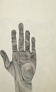 topographical hand